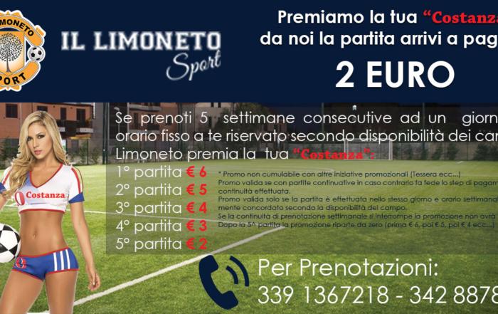 """Offerta calcetto Messina: il Limoneto Sport premia la tua """"Costanza"""""""